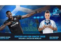 Soccer Aid 2018 Tickets x 2