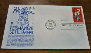 1965 QuadriCentennial First Permanent Settlement First Day Cover Kitchener / Waterloo Kitchener Area image 2