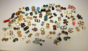 74 pairs of clip-on earrings