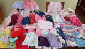 Huge lot 60+ baby girls clothes 6-12 months