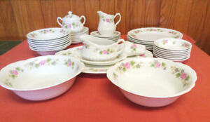 Vtg W.H Grindley Satin White ichina set ironstone staffordshire