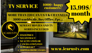All you watch TV. 1700 TV Channels, 180 US-Canada, Free Movies
