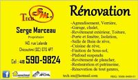 ''Expert en Rénovation''  Tech SM Construction inc. 418-590-9824