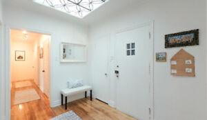 Beautiful 100% RENOVATED 6 1/2 top floor duplex for rent