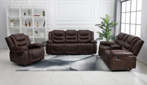 ON SALE MICROFIBER SOFA SET DOUBLE ROCKER MASSAGE CHAIR & MORE