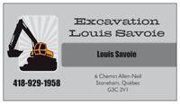 Excavation 70$/h - Estimation gratuite