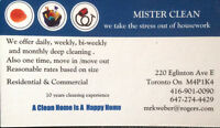 Mister Clean House cleaning service