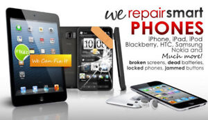 iPhone/Sony/Blackberry/Samsung/ Cell phones Repair (Low Prices).