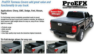 2009-2017 Tri Fold Soft Top Tonneau Cover Ford F150 5.5ft box