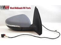 VW Golf MK6 09-13 Electric Primed Wing Door Mirror & Indicator Drivers Side