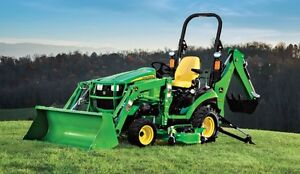 Tractor and  ATTACHMENTS for RENT John Deere/Kubota