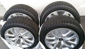 225 45 18 / 245 45 18 Yokohama on 2013 Hyundai Genesis OEM rims