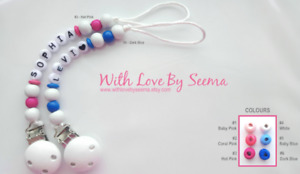 PERSONALIZED Baby Pacifier Clips/Holders/Teethers