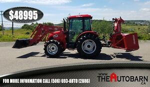2015 TYM T754 CAB AGRICULTURAL TRACTOR & SNOW BLOWER - ONLY 63hr