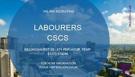 CSCS Labourer - Billingshurst - 8+ Months
