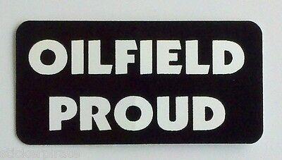 3 - Oilfield Proud Driller Roughneck Hard Hat Oil Field Tool Box Helmet Sticker