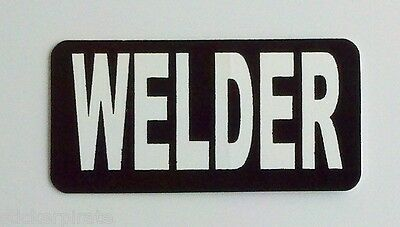 3 - Welder Iron Worker Roughneck Hard Hat Oil Field Tool Box Helmet Sticker