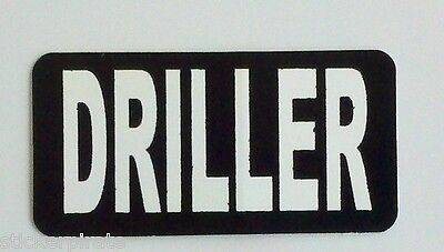 3 - Driller Rig Roughneck Hard Hat Oilfield Oil Field Tool Box Helmet Sticker
