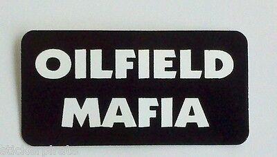 3 - Oilfield Mafia Driller Roughneck Hard Hat Oil Field Tool Box Helmet Sticker