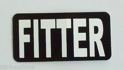 3 - Fitter Iron Worker Hard Hat Welder Oil Field Tool Box Helmet Sticker