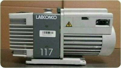 Tested Labconco 117 Rotary Dual Stage Vane Vacuum Pump 235875