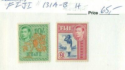 FIJI #131A-B, Mint Hinged, Scott $65.00