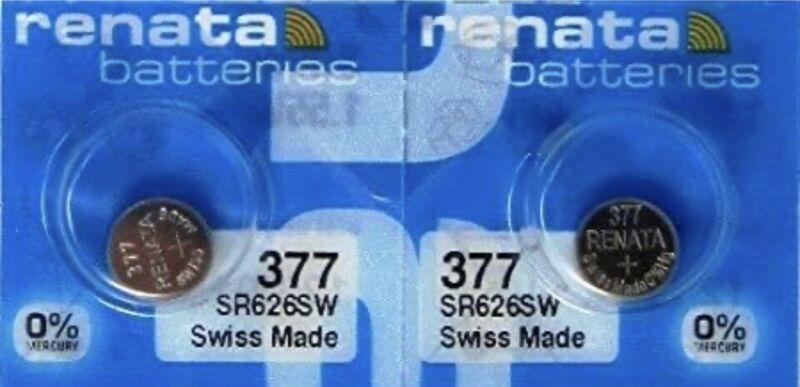 RENATA 377 WATCH BATTERY - PACK OF 2