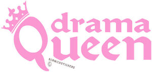 DRAMA-QUEEN-STICKER-FUNNY-GIRL-PINK-STICKER-CAR-BUMPER-STICKER-QUEEN-CROWN-DRAMA