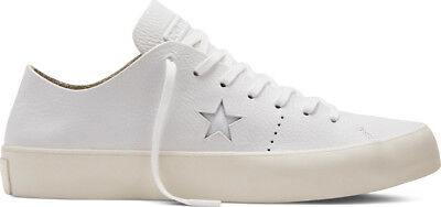 Converse Cons One Star Prime Ox White Leather Low Shoes Sz 12 Mens 154839C