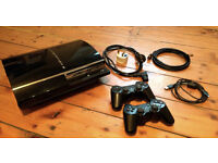 SONY PLAYSTATION 3 WITH 2 CONTROLLERS AND 10+ GAMES