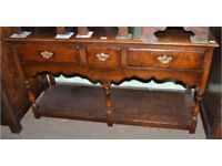 £999.00 Titchmarsh&Goodwin English Oak Sideboard/Dresser Base L134cm, W41cm, H73cm NO TIME WASTERS