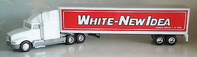 WHITE CAB WHITE-NEW IDEA DRY VAN TRAILER 1/64 SPECCAST DIECAST SCW-027