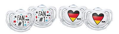 NUK Freestyle Fußball-Edition Schnuller Set 2x 6-18m und 2x 18-36m kiefergerecht