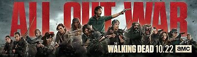The Walking Dead Season 8 TV Poster (12x40) - All Out War, Grimes, Michonne v1