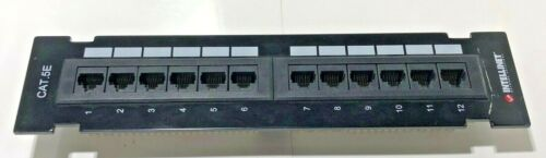 INTELLINET 12 Port Cat5e Patch Panel PC MAC Networking Cat6 Switch Router