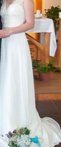 Lace-Top Summer Wedding Dress