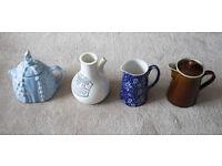 Sadler Teapot, Kirkham Pottery Inhaler, Burleigh Jug, Denby Hot Water Jug