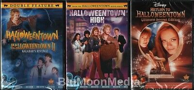 как выглядит DVD, HD DVD, Blu-ray диск Halloweentown 1 2 3 4 DVD Lot Complete Collection Disney 4 Movie Set Brand NEW фото