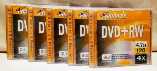 DVD+RW (5 Pack) (4.7GB/120 Minute Video Per Disc) Memorex - Item # 3202-5560
