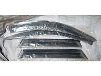 Black tinted BMW X5 side windows sun visors wind deflectors deflecters set of 4 - front and rear
