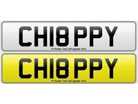 Registration Plate - CH18PPY (Chippy)