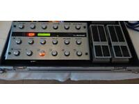 G system, 2 boss expression pedals flightcase