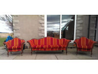 3+1+1 Victorian chesterfield furniture sofa, suite set DELIVERY AVAILABLE