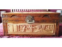 Chinese Carved Camphor Wood Trunk /Chest