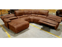 Harveys Extra Large Recliner Corner Sofa Suede - Chocolate. Can deliver