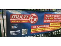 WANT TO BE PART OF A NEW 5 A SIDE FOOTBALL LEAGUE?