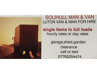 SOLIHULL MAN AND VAN