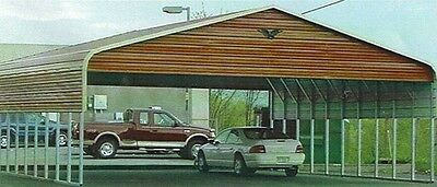 Triple-wide Steel Carport Cover  30 X 31 - Free Installation Nationwide