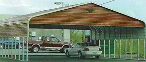 Triple-wide Steel Carport Cover   30 X 31 - FREE INSTALLATION NATIONWIDE!!!