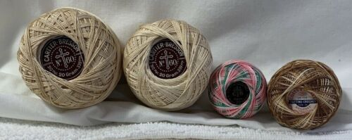 Tatting Crochet Cotton Thread Lot Cartier-Bresson 60 70 Coats & Clark 70